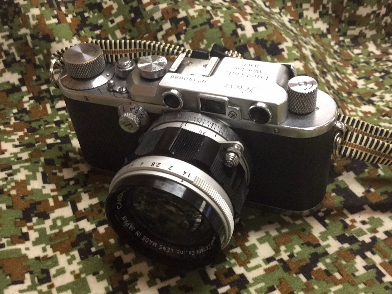 Leica III with Canon Rangefinder 50mm f/1.4 Lens M39